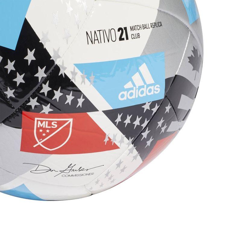 Adidas MLS Size 5 Club Sports Ball - White/Black
