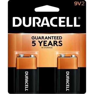 Duracell Copper Top 9V Alkaline Batteries - 2ct