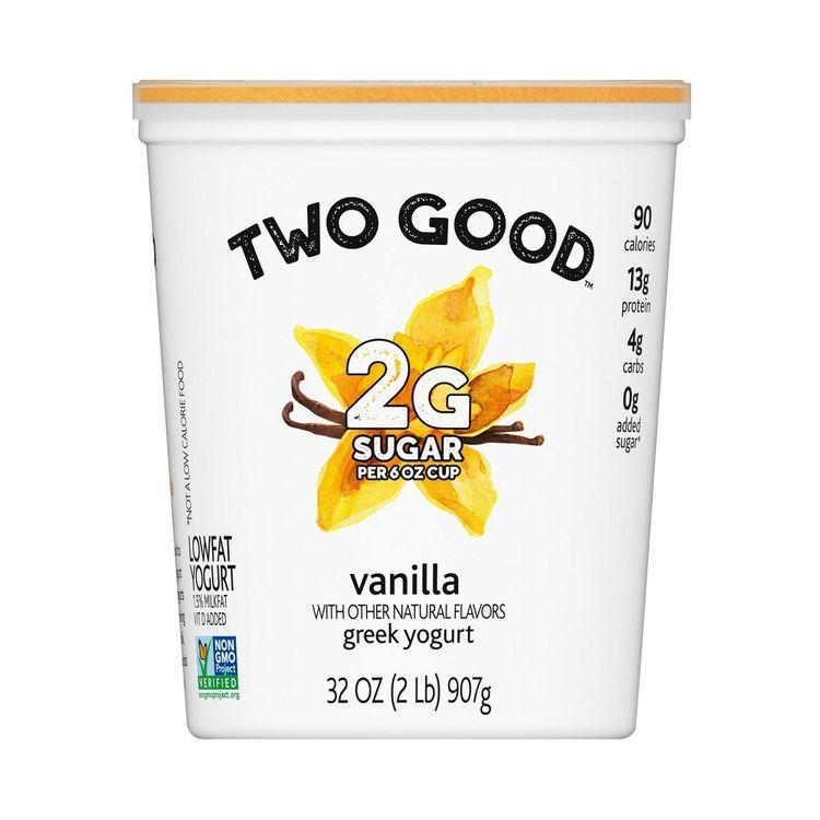 Dannon Two Good Vanilla Yogurt - 32oz
