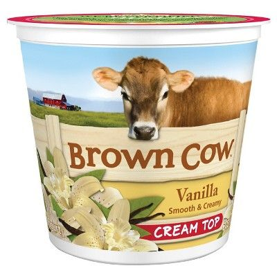 Brown Cow Vanilla Smooth & Creamy Cream Top Yogurt