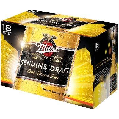 Miller Genuine Draft Beer - 18pk/12 fl oz Bottles