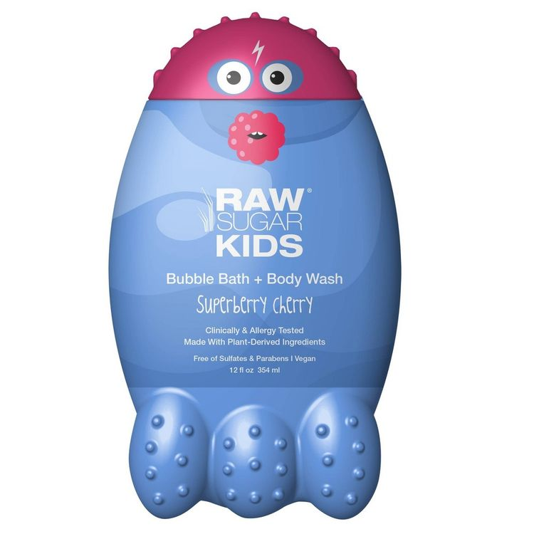 Raw Sugar Kids Bubble Bath + Body Wash Superberry Cherry - 12 fl oz