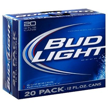 Bud Light Beer - 20pk/12 fl oz Cans