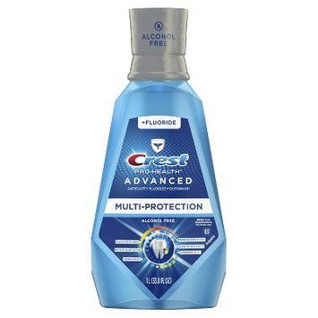 Crest Pro-Health Advanced Mouthwash Alcohol Free Multi-Protection Fresh Mint - 33.8 fl oz