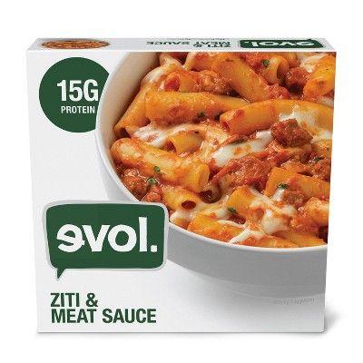 Evol Ziti Bolognese Frozen Pasta Bowl - 9oz