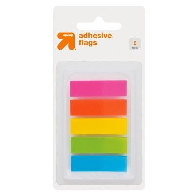 Up & Up Adhesive Flags 5 Pads 150ct Solid Multicolor - Up&Up
