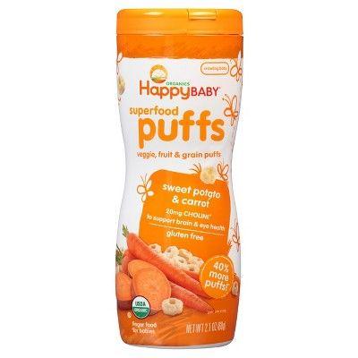Happy Baby® Organics Superfood Puffs Sweet Potato & Carrot