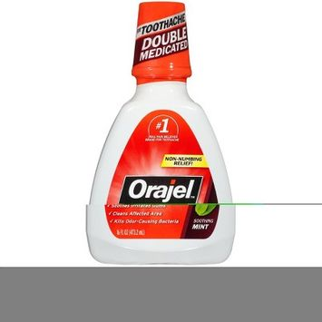 Orajel Soothing Mint Toothache Rinse - 16 fl oz