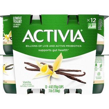 Dannon Activia Probiotic Vanilla Yogurt - 12pk/4oz cups