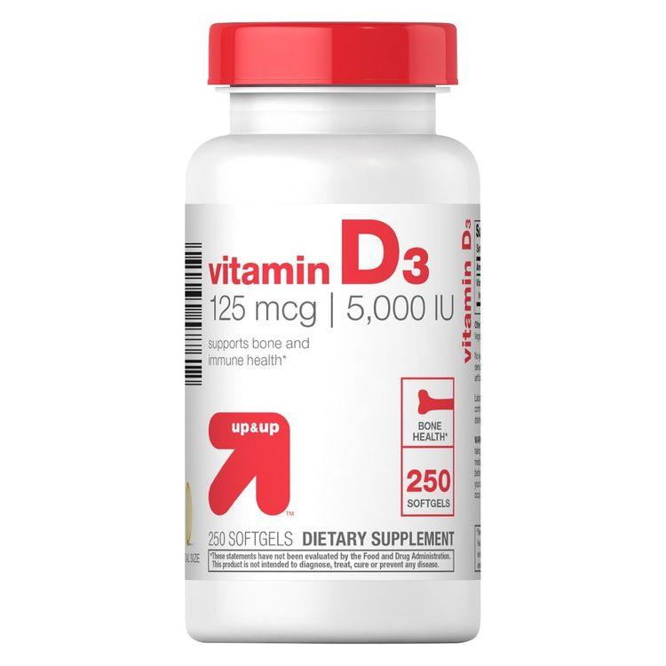 Vitamin D 5000IU Softgels - 250ct - up & up