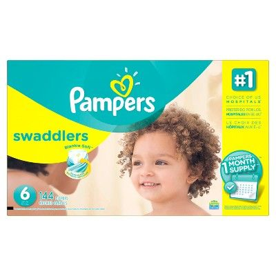 Pampers Swaddlers Diapers - Size 6 (144ct)