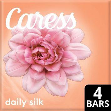 Caress Daily Silk White Peach & Orange Blossom Scent Bar Soap - 3.75oz/4ct