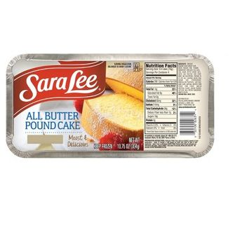 Sara Lee Moist and Delicious All Butter Frozen Pound Cake - 10.75oz