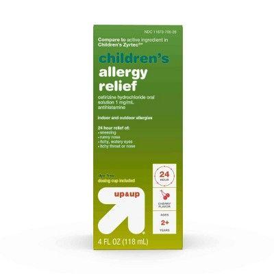 Up & Up Children's Cetirizine Hydrochloride Allergy Relief Liquid - Cherry - 4oz - Up&Up