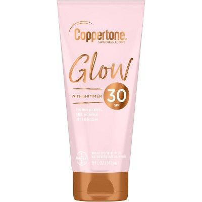 Coppertone Glow With Shimmer Sunscreen Lotion - SPF 30 - 5 fl oz