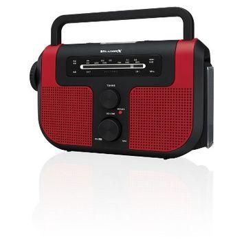 WeatherX WB/AM/FM Solar Charge Radio - Red (WR383R)
