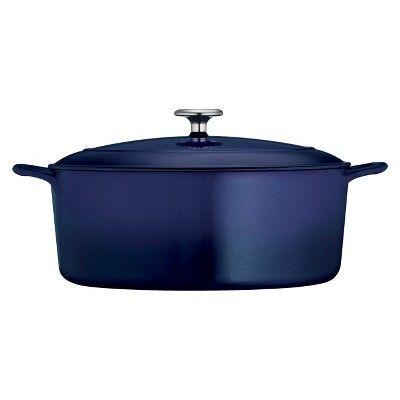 Tramontina 7qt Cast Iron Dutch Oven Blue