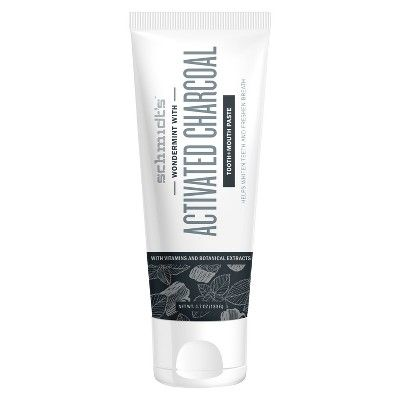 Schmidt's Wondermint with Activated Charcoal Natural Mouth and Toothpaste - 4.7oz