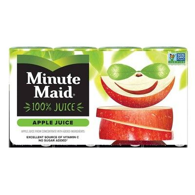 Minute Maid Apple 100% Juice - 8pk/6 fl oz Boxes
