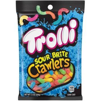 Trolli Sour Brite Crawlers Gummi Worms - 7.2oz