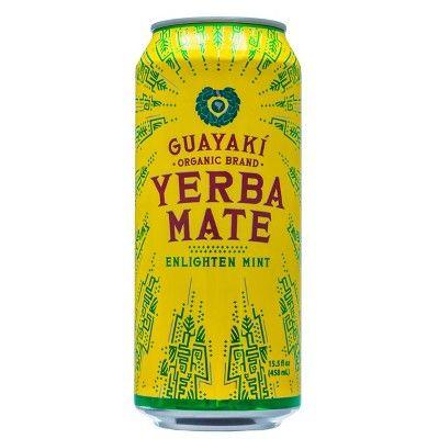 Guayaki Yerba Mate Enlighten Mint - 15.5 fl oz Can