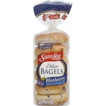 Sara Lee Deluxe Bagels Blueberry - 6ct 20oz