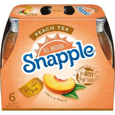 Snapple Peach Tea - 6pk/16 fl oz Glass Bottles