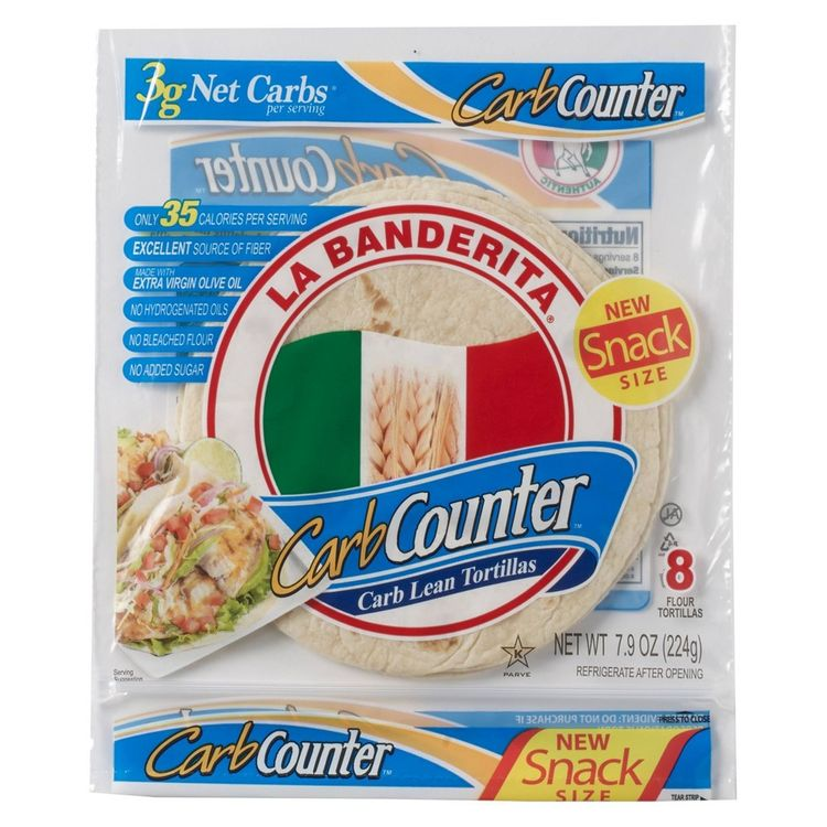 La Banderita Carb Counter Snack Size Tortillas - 7.9oz/8ct