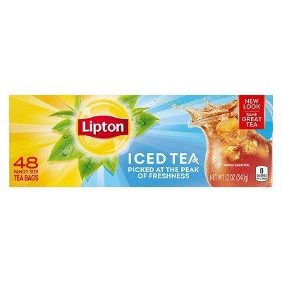 Lipton Family Black Iced Unsweetened Black Tea Bags - 48ct