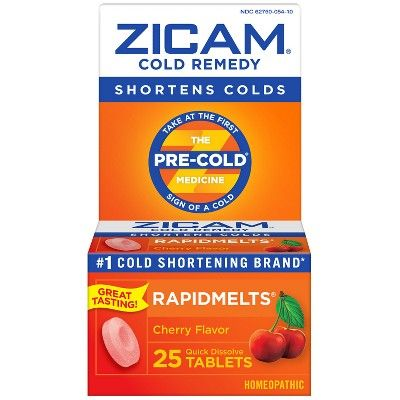 Zicam Cold Remedy RapidMelts Quick-Dissolve Tablets - Cherry - 25ct