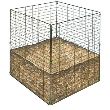Single Bin Wire Composter - Gardener's Supply Company