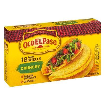 Old El Paso Crunchy Shells, Gluten Free, 12 Ct, 4.6 oz
