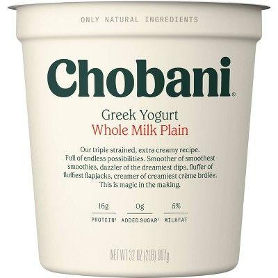 Chobani® Whole Milk Plain Greek Yogurt