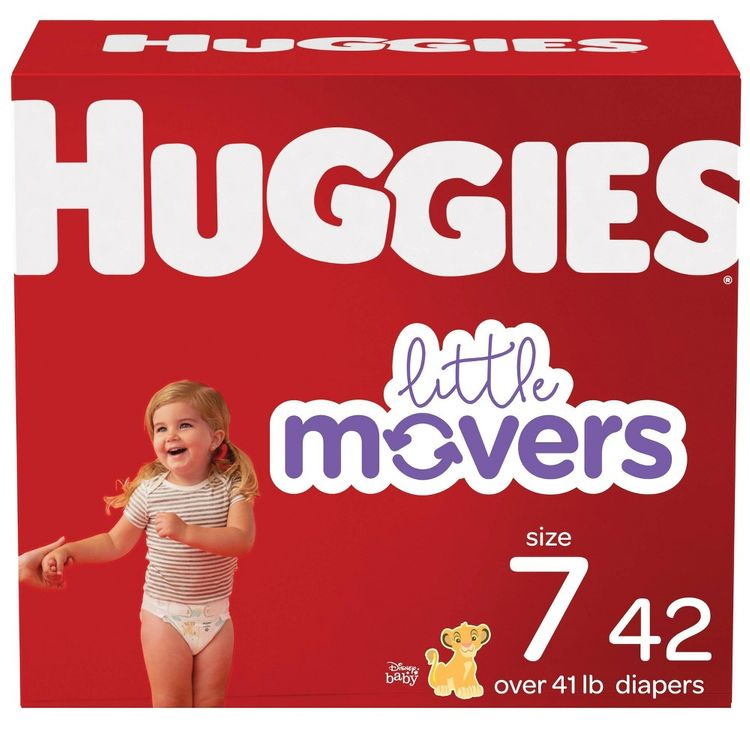 Huggies Little Movers Baby Diapers Size 7 - 42ct
