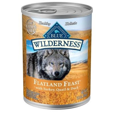 Blue Buffalo Wilderness Flatlands Feast Wet Dog Food - 12pk/12.5oz