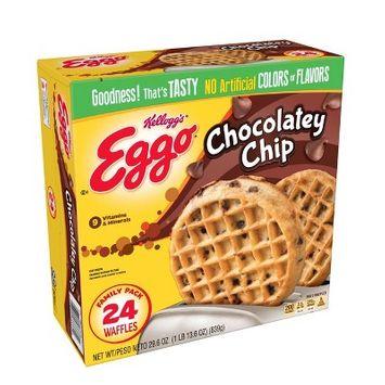 Kellogg's Eggo Chocolatey Chip Frozen Waffles Family Pack - 24ct