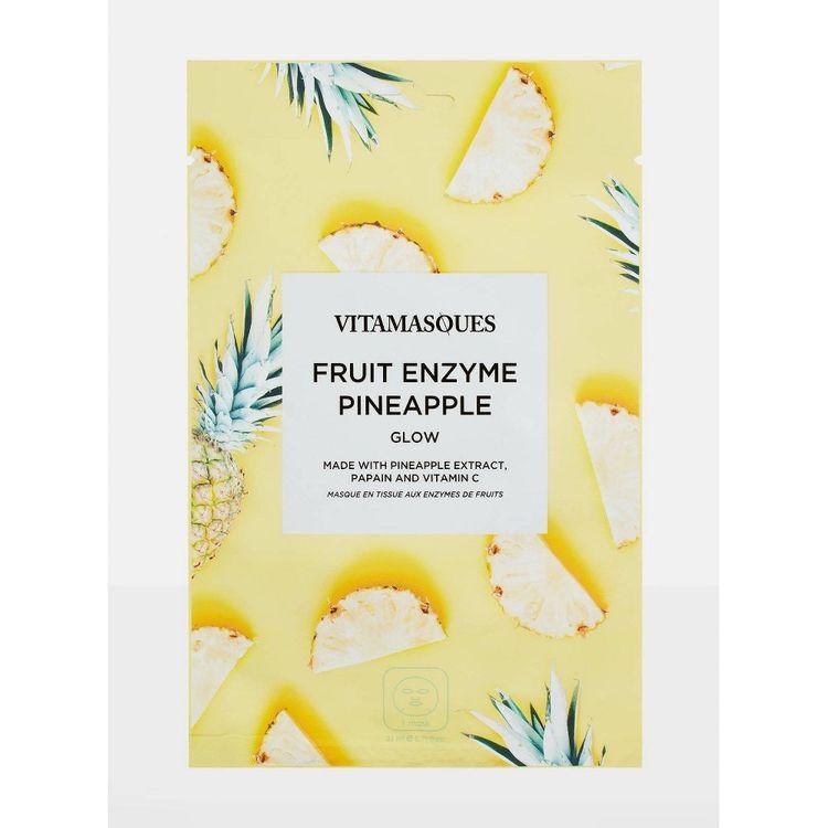 Vitamasques Fruit Enzyme Pineapple Sheet Mask - 0.71 fl oz