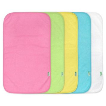 green sprouts Stay-Dry Burp Pads (5pk) - Pink Set