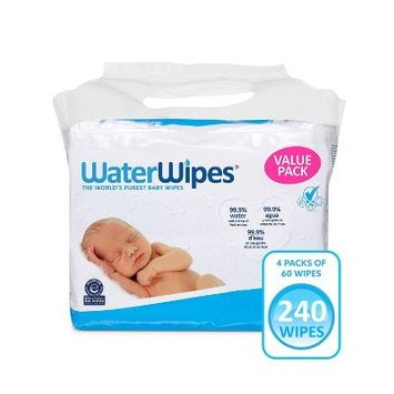 WaterWipes Unscented Baby Wipes Value Box - 4pk/240ct Total