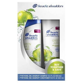 Head & Shoulders Green Apple Anti-Dandruff Paraben Free Shampoo + Conditioner Twin Pack - 24.4 fl oz