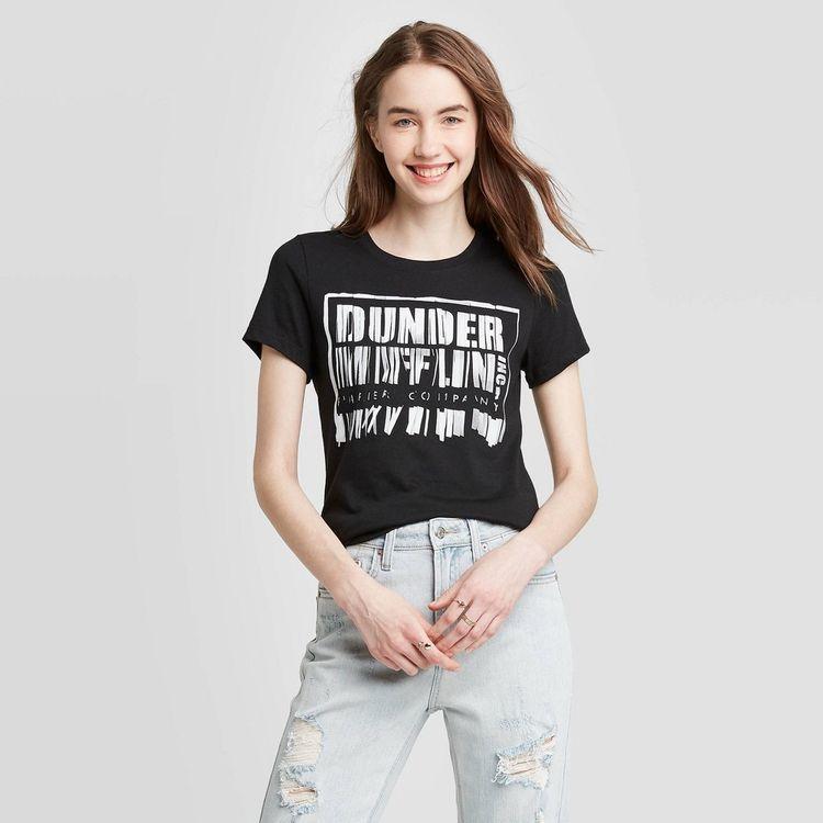 Women's Dunder Mifflin Shredder Short Sleeve Graphic T-Shirt - Black M
