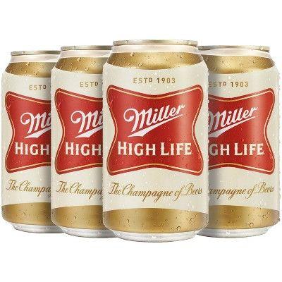 Miller High Life Beer - 6pk/12 fl oz Cans