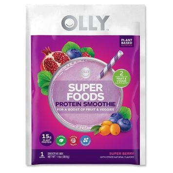Olly Super Foods Vegan Protein Smoothie Single Serve - 1.5oz