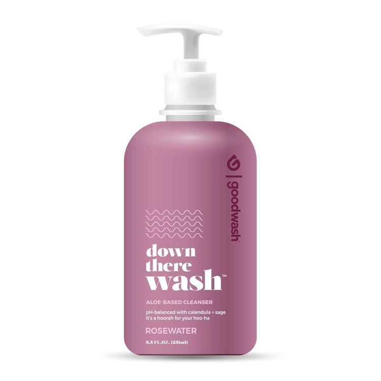Goodwipes Down There Wash - Rosewater - 8.5oz