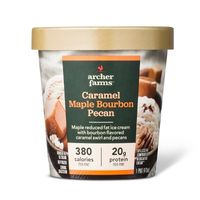 Maple Caramel Bourbon Pecan reduced fat ice cream - Naturally Flavored - 16oz - Archer Farms™