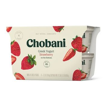 Chobani Strawberry on the Bottom Nonfat Greek Yogurt - 5.3oz/4pk