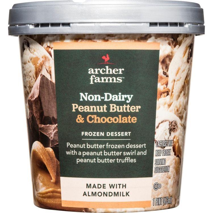 NON-DAIRY PEANUT BUTTER & CHOCOLATE FROZEN DESSERT, PEANUT BUTTER & CHOCOLATE