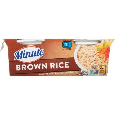 Minute Ready to Serve Fully Cooked Brown Rice Cups - 2pk