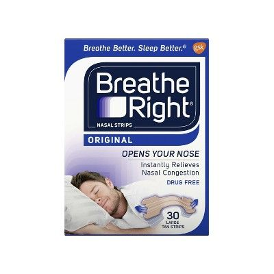 Breathe Right Original Tan Large Nasal Strips for Congestion Relief - 30ct