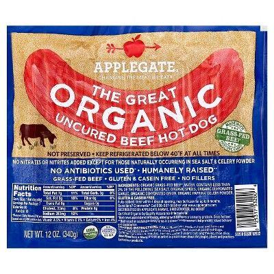 Applegate Organic Beef Hot Dogs - 7ct/12oz